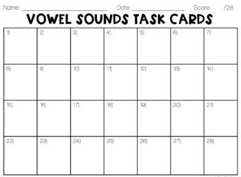 Vowel Sounds Task Cards