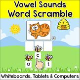 Short & Long Vowel Sounds Spelling Game - Word Scramble Activity