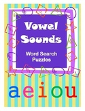 Vowel Sounds / Word Search Puzzles / Phonics / Fun Literacy Center