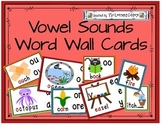 Vowel Sounds Word Wall Cards