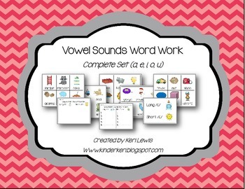 Vowel Sounds Word Work Set- Long and short sounds for all vowels