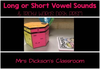 Vowel Sounds and Tricky Words Desk Prism