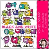 Vowel Sounds clip art - Black and White