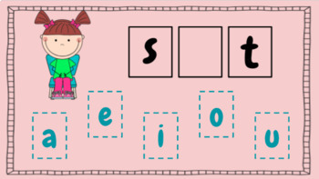 Vowel Sounds in CVC Words for Google Classroom