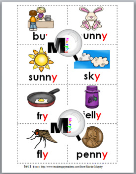 Vowel Sounds of Y Sorting Activity plus Worksheets & Posters