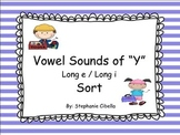 "Vowel Sounds of ""y"" Long e / Long i Sort"