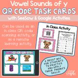 Vowel Sounds of y QR Code Task Cards