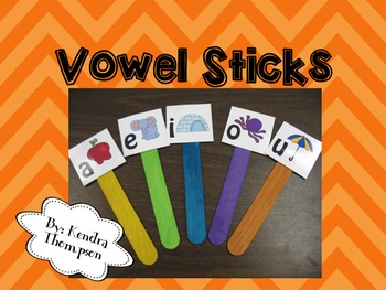 Vowel Stick Cards