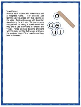 Short Vowels - Vowel Sticks and Vowel Snatch