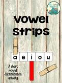 Vowel Strips: a short vowel activity