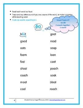 "Vowel Team ""oa"": A Multisensory Approach"