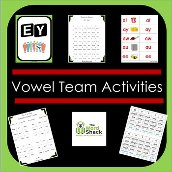 Vowel Team Review Activities