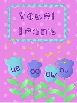 Vowel Team Activities-- oo, ou, ew, ue