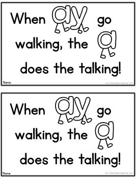 AY Vowel Team Activity Book