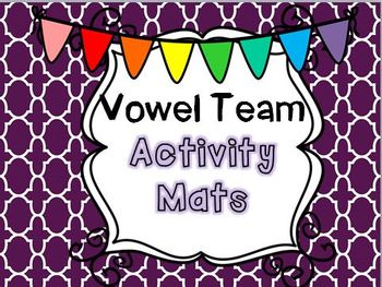 Vowel Team Activity Mats