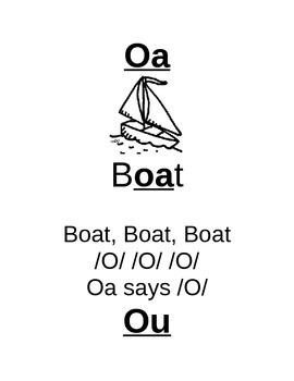 Vowel Team Anchor Charts