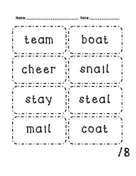 Vowel Team Assessment