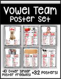 Vowel Team Posters: aw, ow, ou, ew, oy, oi, ee, ea, oo, ai