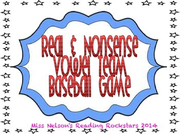 Vowel Team Baseball Game Real And Nonsense Words By Classroom Companion
