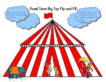 Vowel Team Big Top Flip and Fill