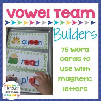 Vowel Team Word Building Mats