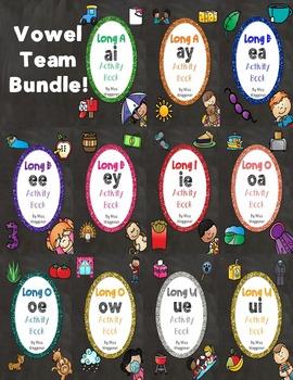 No Prep Vowel Team Huge Bundle - EA, EE, EY, AI, AY, EY, I
