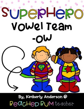 """BUNDLE: Vowel Team -ow (as in """"plow"""" and """"snow"""") - 3 Activities!!"""