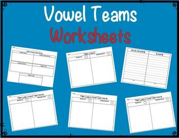 Vowel Team Centers