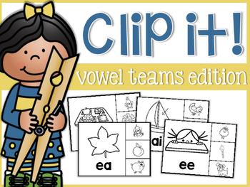 Vowel Team Clip It!
