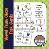 Long Vowel- Vowel Team Cloze Task Cards
