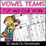 Vowel Team Cut-and-Glue Hands-On Worksheets