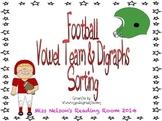 Vowel Team & Digraphs Football Sorting