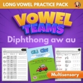 Vowel Team Diphthong AW AU Multisensory Word Work Pack
