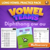 Vowel Team Diphthong OW OU Multisensory Word Work Pack