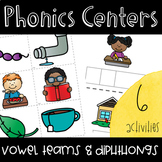 Vowel Team & Diphthong Phonics Activities for Centers