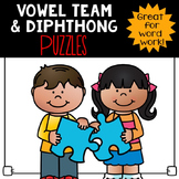 Vowel Team & Diphthongs Word Puzzles