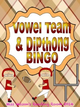 Vowel Team & Dipthong BINGO game!