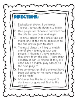 Vowel Team Dominoes Game! (Long i: i, y, igh, ie)