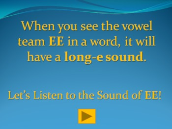 Vowel Team EE PowerPoint