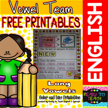 Vowel Team FREE Printables ( Long Vowels )