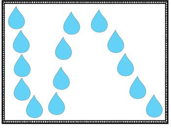 Vowel Team Flashcard, -ai, -ay, Umbrella Theme