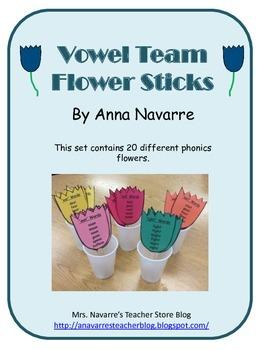 Vowel Team Flower Sticks