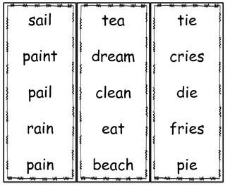 Vowel Team Fluency Cards