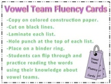 Vowel Team Fluency Cards