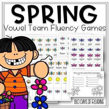 Spring Vowel Team Activities to Practice Common Vowel Teams
