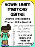 Vowel Team Game---Aligned with Reading Wonders Unit 6 Week 4