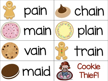 Vowel Team Game: Long Vowels (Cookie Thief)