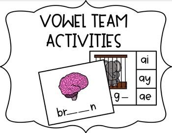 Vowel Team Hands On Activities *GROWING BUNDLE*