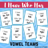 Vowel Team I Have Who Has Game