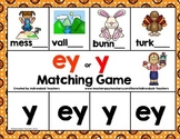 Vowel Team Long E Matching Game   ey or y